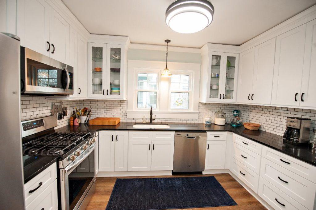u shaped kitchen design